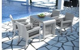Rattan Lounge LUNA Gartenset (5tlg.) v2