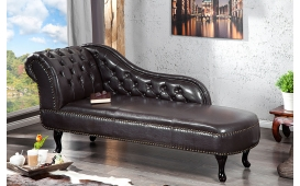 Designer Recamiere Chesterfield DARK COFFEE