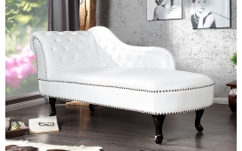 Designer Recamiere Chesterfield WHITE
