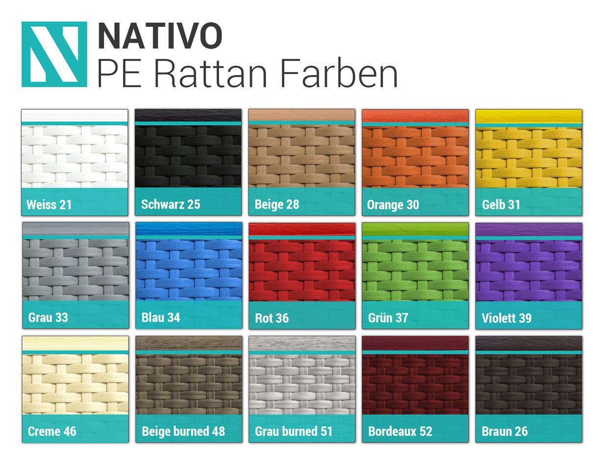 NATIVO Farbpalette Rattan