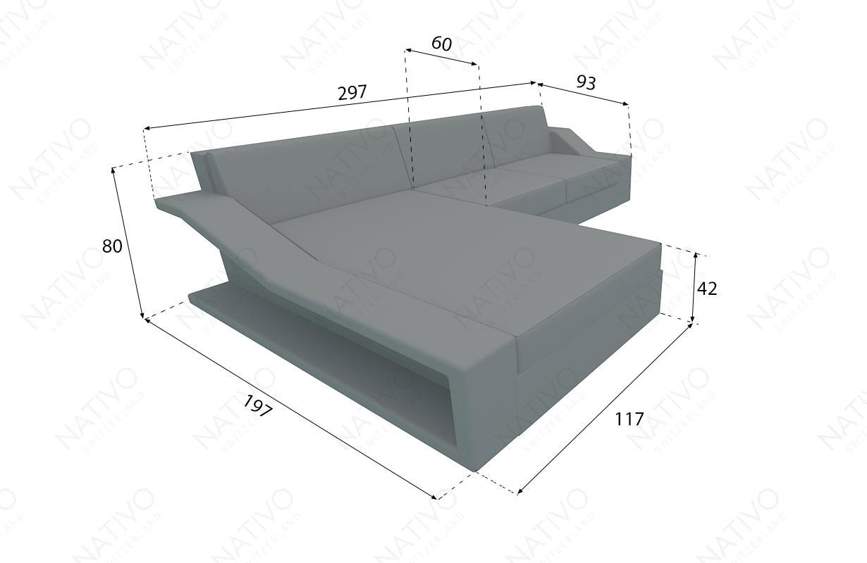 Dimensionen Designer Rattan Lounge Sofa MIRAGE MINI V1