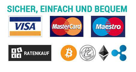 Zahlungsarten NATIVO Deutschland mit Bitcoin bezahlen